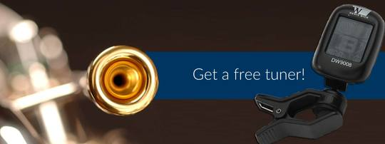 Free Denis Wick Tuner with Denis Wick Mouthpieces