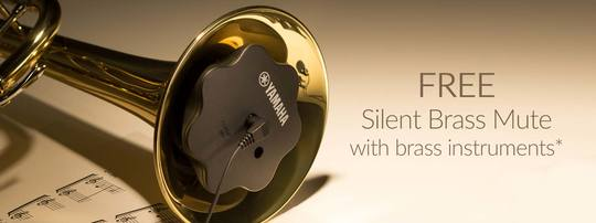 FREE Silent Brass Mute with selected Brass Instruments this month