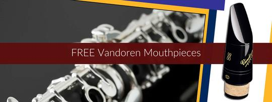 FREE Vandoren Mouthpiece with Clarinets over £1000