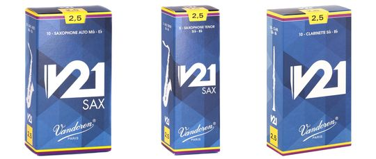 Vandoren V21 Reed range extends to Alto & Tenor Sax