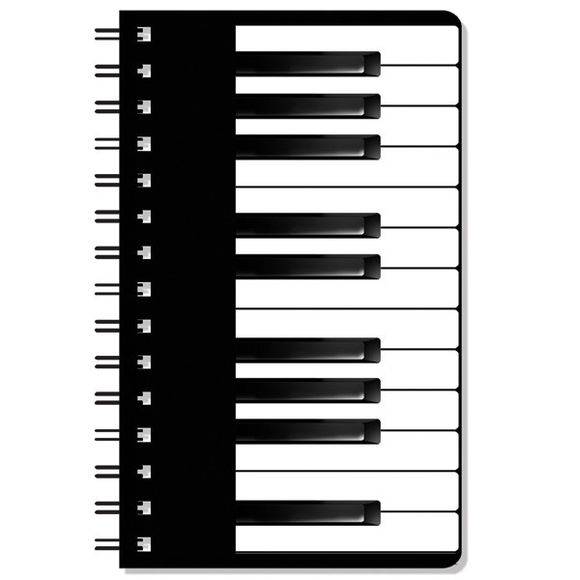 Keyboard Design Spiral Notepad