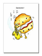 """Saxoscone"" Greetings Card"