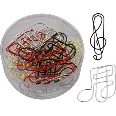 Musical Shaped Paper Clips