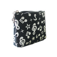 Coin Pouch Music Notes Black