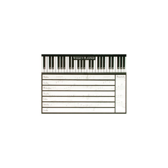 Weekly Planner Piano Keys
