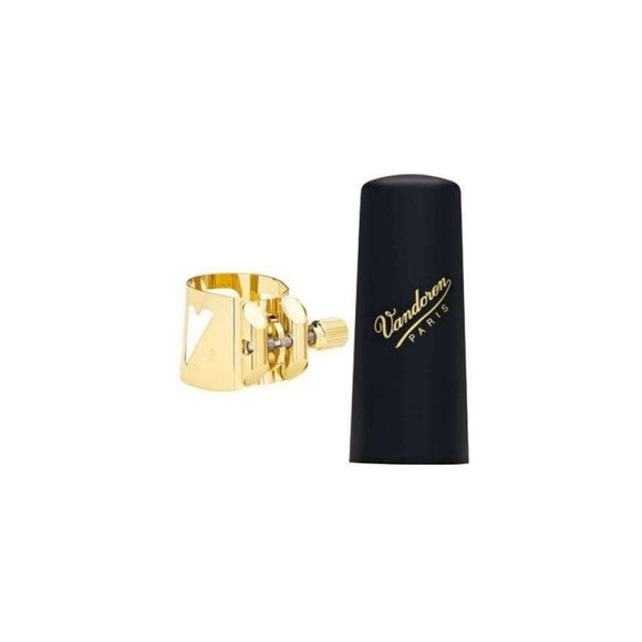 Vandoren Gold Plated Optimum LC080P  V16 Bb Tenor Sax Ligature