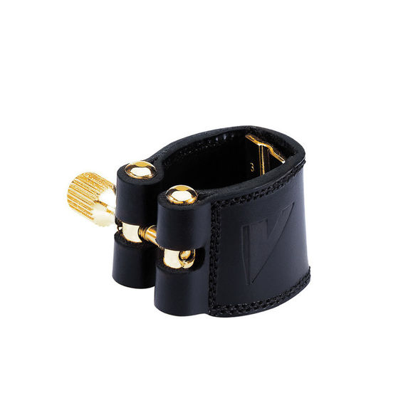 Vandoren Leather LC27P Eb Alto Saxophone ligature and plastic cap black