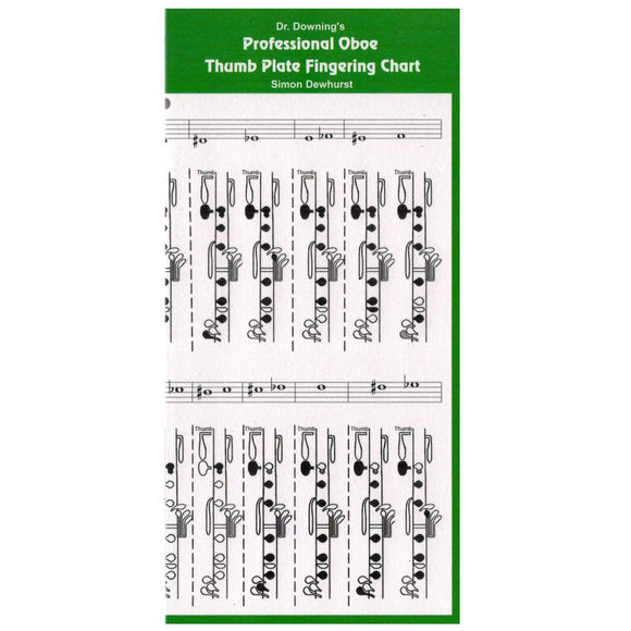 Doctor Downing Books Oboe Thumbplate Fingering chart