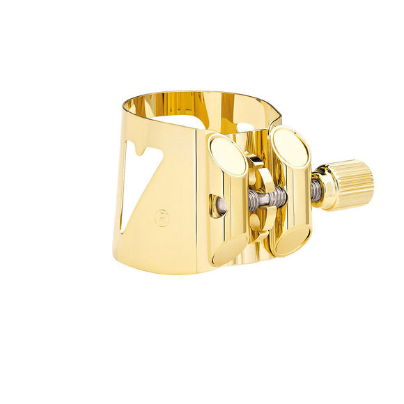 Vandoren Gilded LC07P Optimum Eb Alto Saxophone Ligature and plastic cap