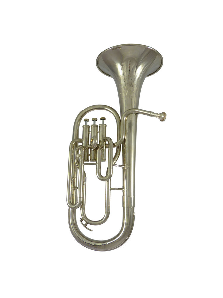 Tenor Horn Attractive And Durable Musical Instruments & Gear Brass Windcraft Wth-100s Silver Plated