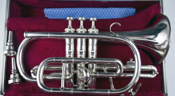 Secondhand The Regent Bb Cornet Silverplate