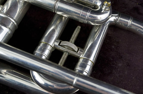 Secondhand Conn Long Model Cornet Silverplate