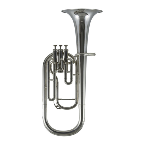 Secondhand Yamaha YAH-201S Eb Tenor Horn Silverplate