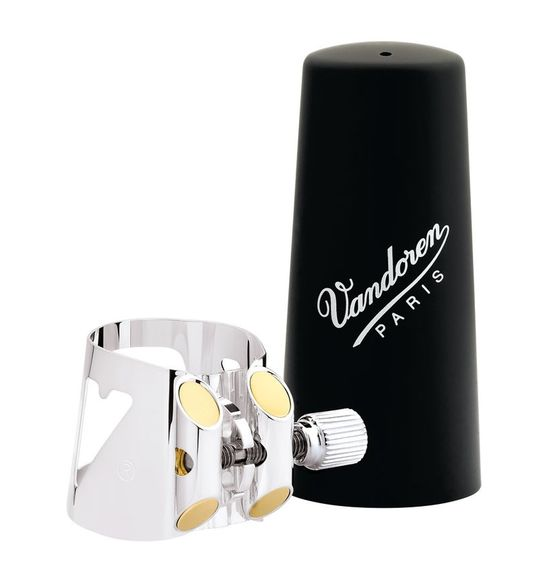 Vandoren Bass Clarinet LC04P Opt Ligature SP + Plastic Cap