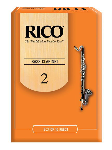 Rico Bass Clarinet to Eb Reeds (Strength 2) (Box of 10)
