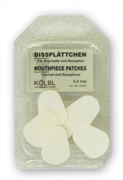 Kolbl Clt/Sax Mouthpiece Patch 0.4mm (8.002) clear