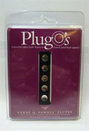 Powell Plug O's - open hole flute plugs 9mm