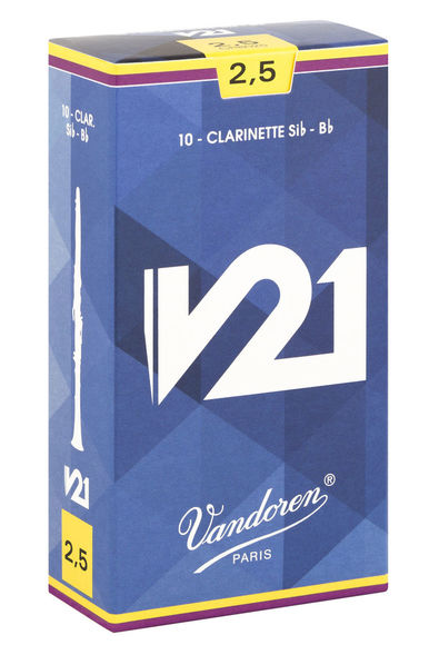 Vandoren V21 Bb Clarinet Reeds (Box of 10)