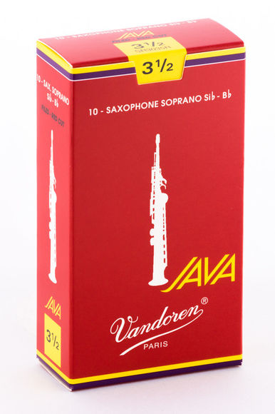 Vandoren Java Red Cut Soprano Saxophone Reeds (Box of 10)