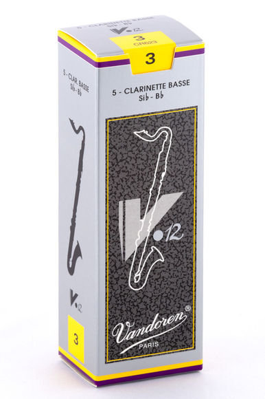 Vandoren V12 Bass Clarinet Reeds (Box of 5)