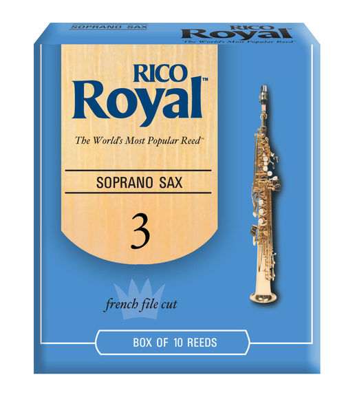 Rico Royal Soprano Saxophone Reeds (Box of 10)