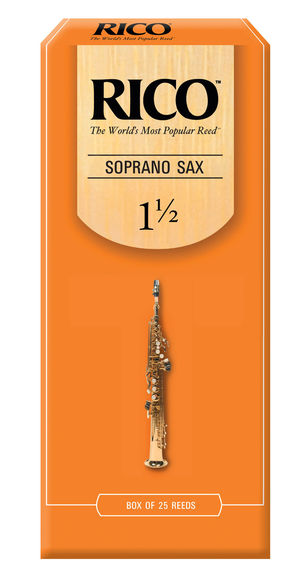 Rico Soprano Saxophone Reeds (Strength 1.5) (Box of 25)
