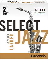 D'Addario Select Jazz Unfiled Alto Saxophone Reeds (Box of 10)
