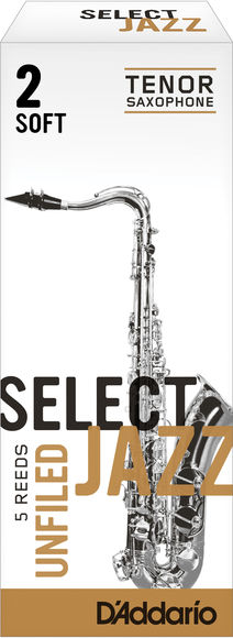 D'Addario Select Jazz Unfiled Tenor Saxophone Reeds (Box of 5)
