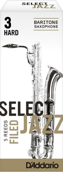 D'Addario Select Jazz Filed Baritone Saxophone Reeds (Box of 5)