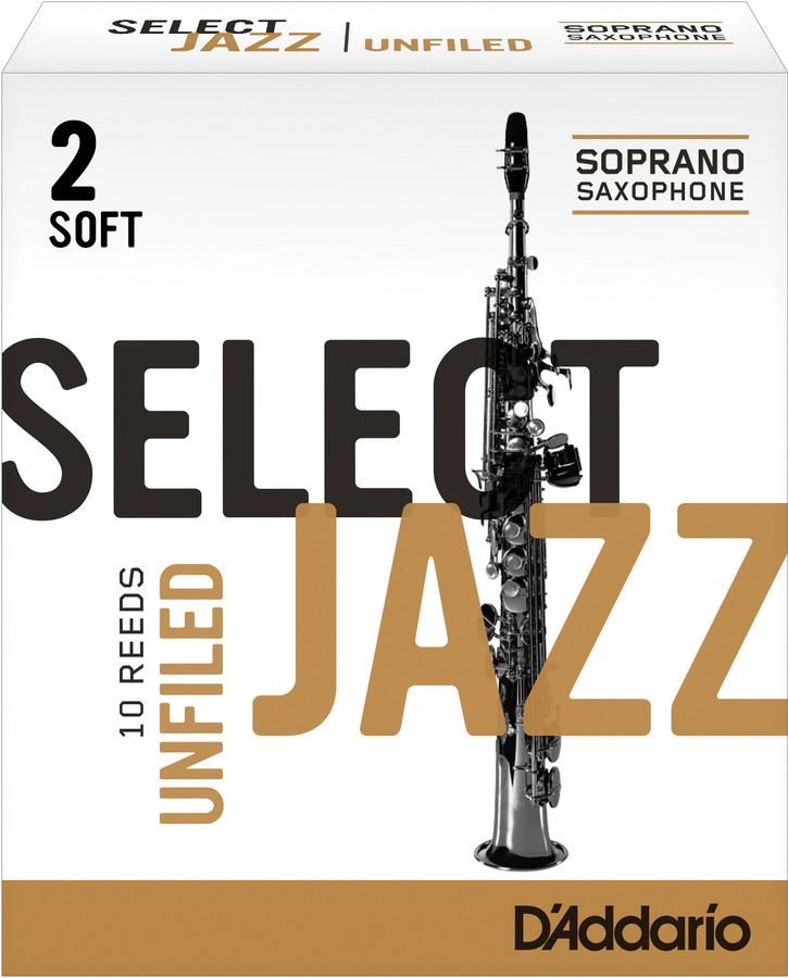 D'Addario Select Jazz Unfiled Soprano Saxophone Reeds (Box of 10)
