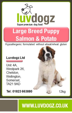 Large Breed Puppy Salmon & Potato