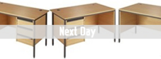 Next Day H Frame Office Desks