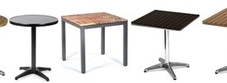 Outdoor Tables with Imitation Wood Tops