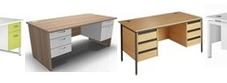 Desks with Double Fixed Drawers