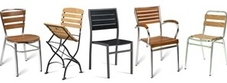 Teak Metal Outdoor Chairs