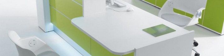 Valde High Gloss Reception Desks