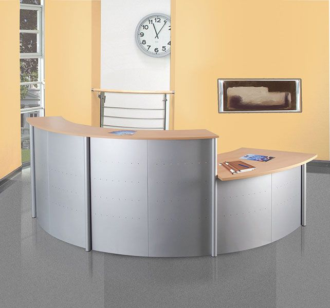 Genua Curved Reception Desk Online Reality