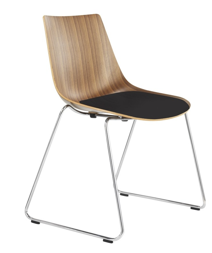 An image of Curve Designer Chair with an Upholstered Seat