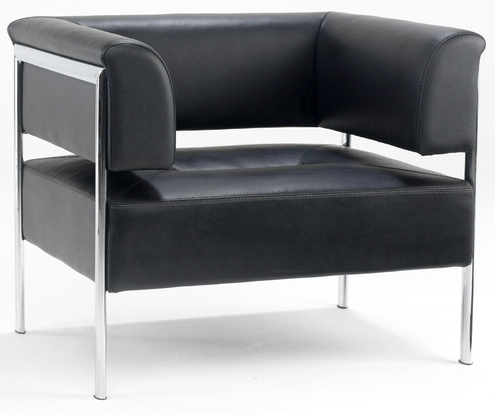 An image of Balomo Leather Armchair