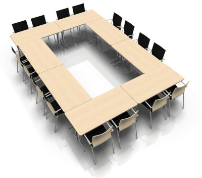 Conference Table Layout For Travidio Online Reality - Conference table layout