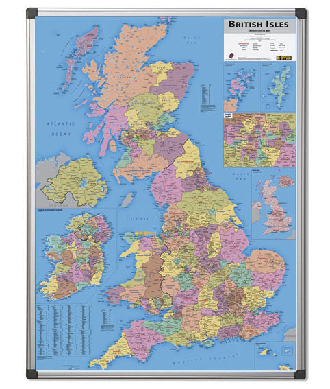 An image of British Adminstrative Map - dry wipe