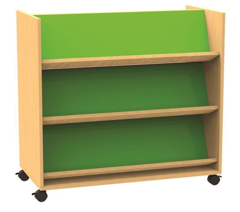 An image of Funky Double Sided Mobile Book Trolley