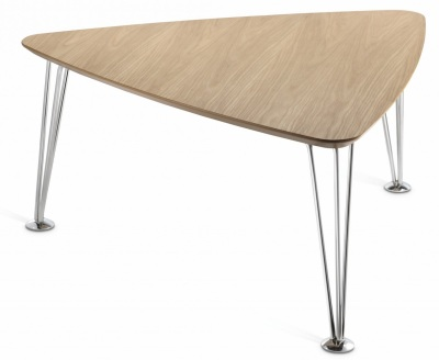 Triangle Coffee Table Wood.Monty Triangular Coffee Tables