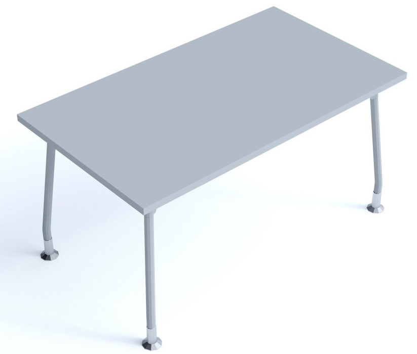 An image of Kompass Rectangular Desk with 4 Legs - 1600mm Wide