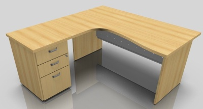 Notion Extra Large Left Hand Corner Desk with Integral drawers. 2 6282 E (1)