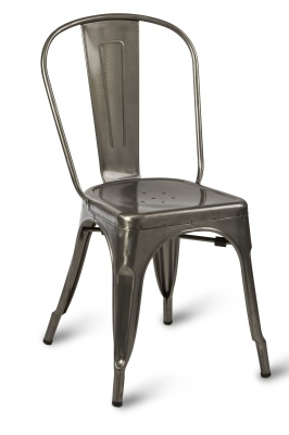 Charmant Paris Side Chair Gun Metal Clear Coating Compressor