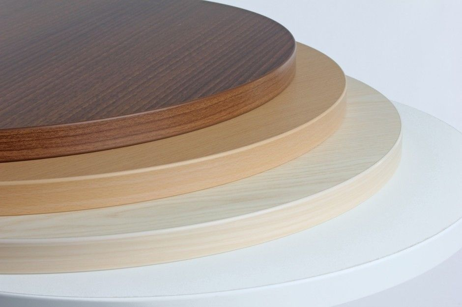 Superbe Square Laminate Table Tops; Round Laminate Table Tops