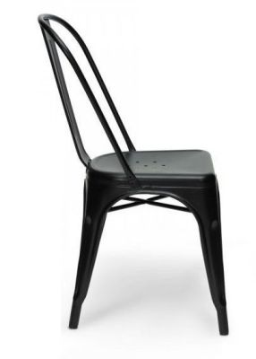 Xavier V2 Side Chair In Black Side On