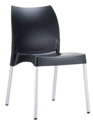 Babatti Plastic Chair In Black, Fully Assembled