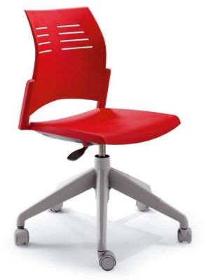 Spacio Designer Operators Chair In Red With Gas Height Adjustiment